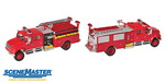 Walthers 11841  International 4900 Emergency.Crew Cab Fire Engine  H0